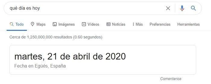 Respuesta directa de Google