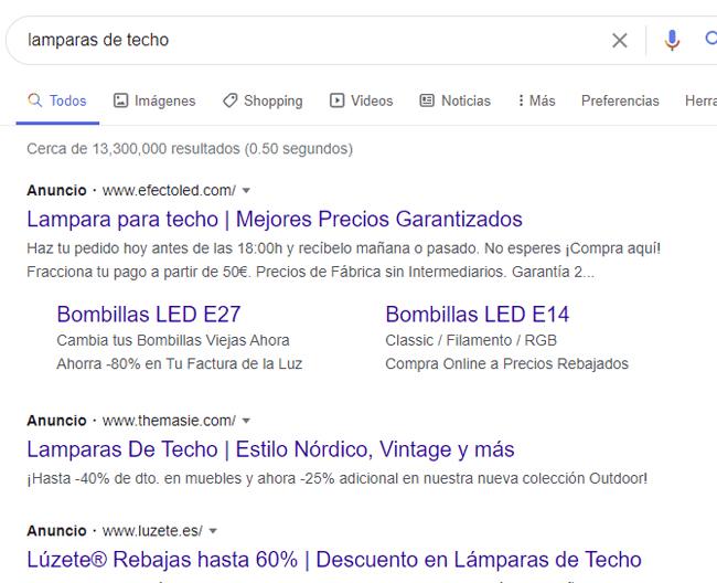 anuncios google ads serps