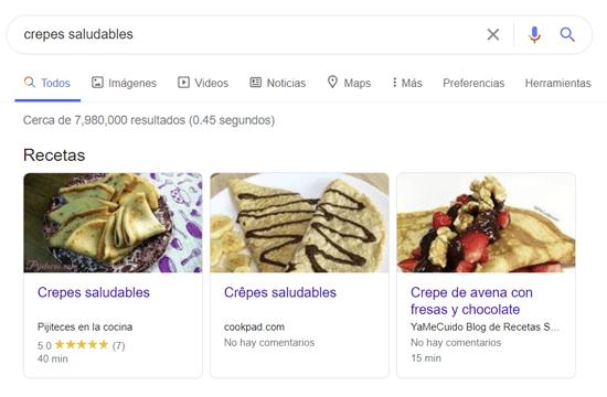 Fragmento destacado de recetas