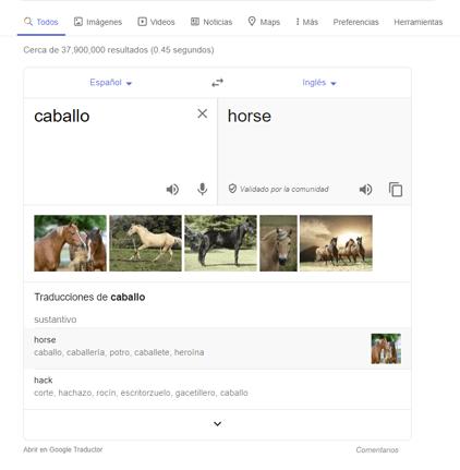 Traducción directa de Google