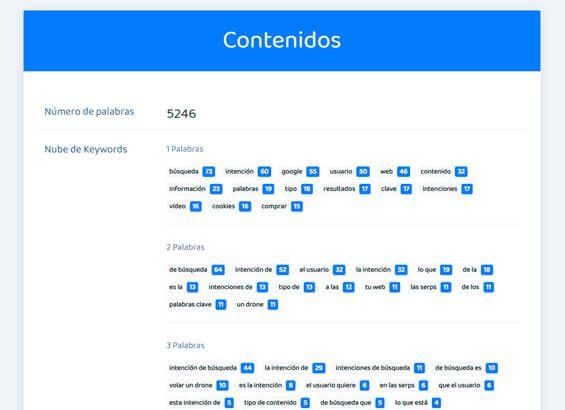 Análisis SEO de una web: Contenidos