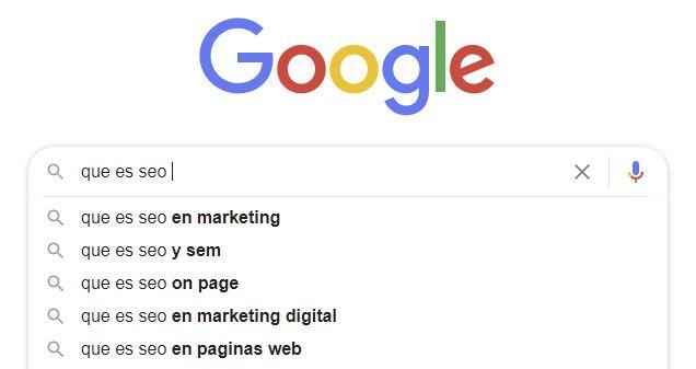 Búsqueda de keywords en Google