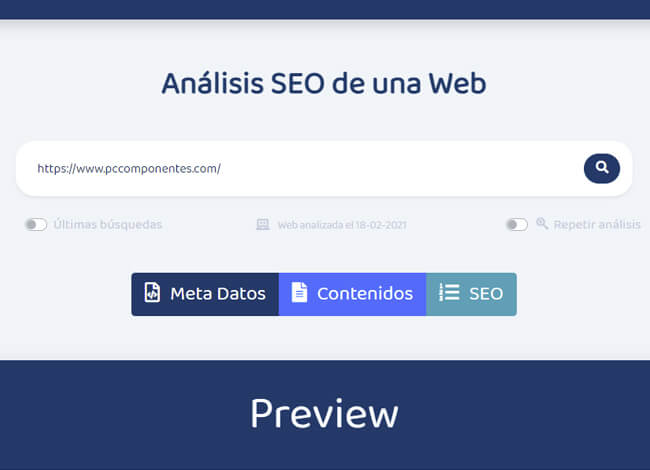 analisis seo web on page completo
