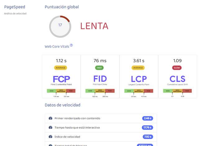analisis seo web velocidad de carga