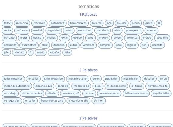 Motores de búsqueda para la herramienta Keyword Suggest