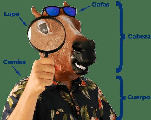 Datos estructurados de una foto de Horse Luis