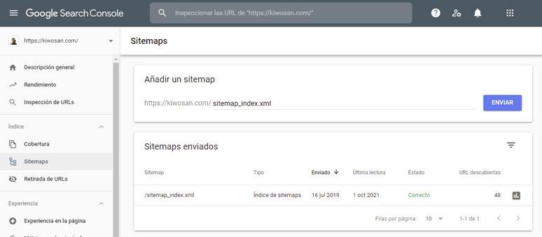 Enviar sitemap.xml a Search Console